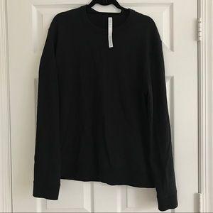 Lululemon men's crew neck sweatshirt, Black, Large